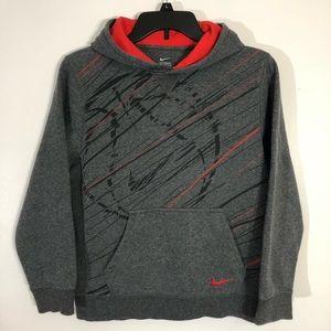 Boys Nike Sweatshirt Hoodie Large Gray